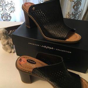 Dr Scholl's lifestyle/comfort slides stacked heel
